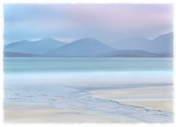 Dawn. In soft shades. Harris. Scotland