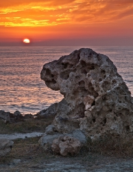 A guard for sunset(Cyprus)