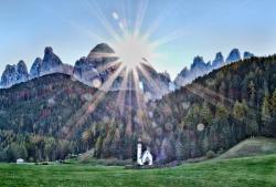 Sunrising Glory. Italy, Dolomites