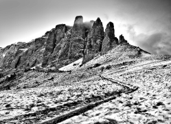 Sella Pass Near Passe Rolle, Dolomites_1